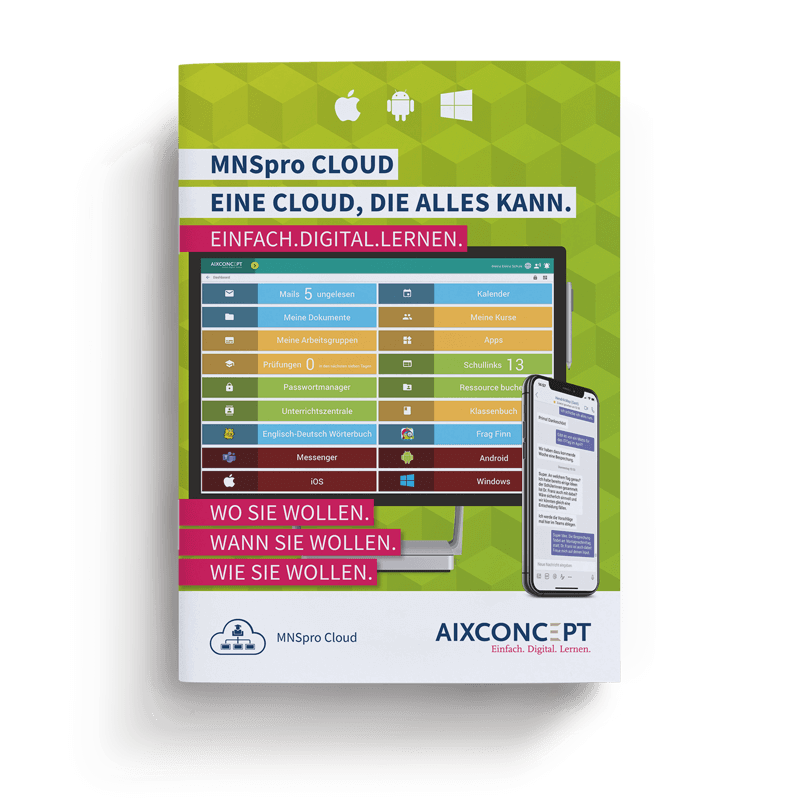 Mockup Broschuere MNSpro Cloud